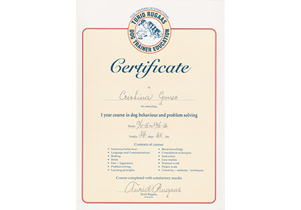 International Pet Dog Trainer Certificate Turid Rugaas